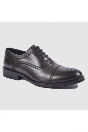 حذاء رجالي جلد مفرغ برباط رسمي