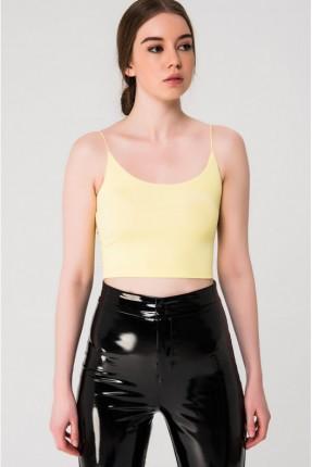بلوز نسائي قصير - اصفر