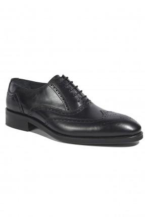 حذاء رجالي رسمي مفرغ - اسود