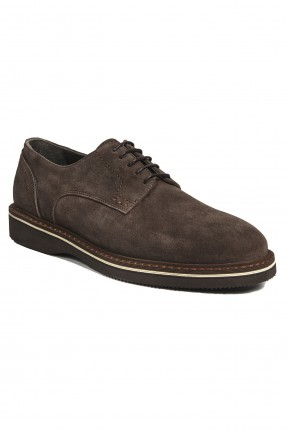 حذاء رجالي سادة برباط كلاسيكي