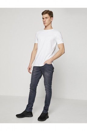 بنطال رجالي جينز - فحمي