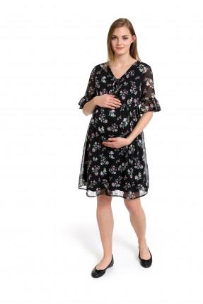 فستان سبور شيفون مزهر للحامل