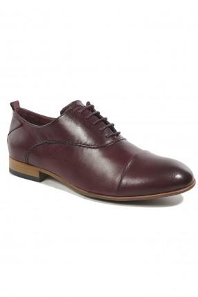 حذاء رجالي رسمي جلد لامع - خمري