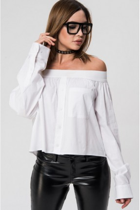 قميص نسائي يصلح كتنورة - ابيض