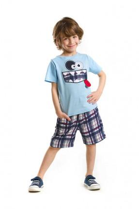 طقم اطفال ولادي - ازرق
