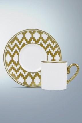 طقم فنجان قهوة 6 اشخاص - مزخرف ذهبي
