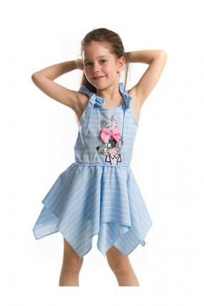 فستان اطفال بناتي مع كشكش