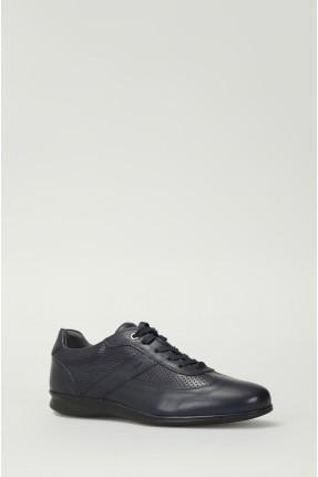 حذاء رجالي مع رباطات - ازرق داكن