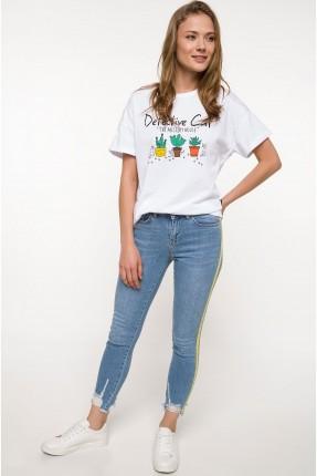 بنطال نسائي جينز - ازرق فاتح