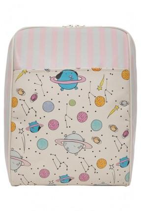 حقيبة ظهر نسائية مطبوعة كواكب لطيفة سبور
