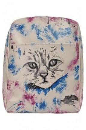 حقيبة ظهر نسائية مطبوعة قطة سبور
