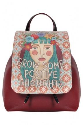 حقيبة ظهر نسائية بغطاء مطبوع فتاة سبور