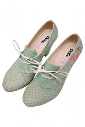 حذاء نسائي بكعب منقط مطبوع سبور