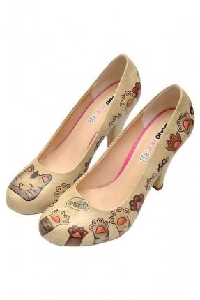 حذاء نسائي مطبوع سواعد قطط سبور