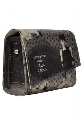 حقيبة يد نسائية منقطة مطبوعة فتاة سبور
