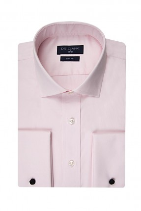 قميص رجالي سادة رسمي - زهري