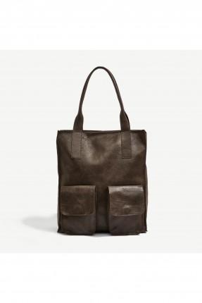 حقيبة يد نسائية مع جيوب