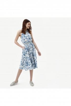 فستان سبور مزخرف مع ازرار وجيوب