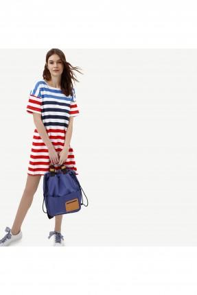 فستان سبور مخطط بالوان