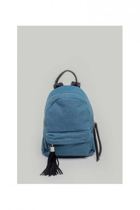 حقيبة ظهر نسائية مع سحاب - ازرق