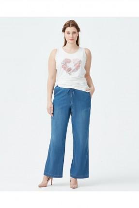 بنطال نسائي جينز عريض سبور