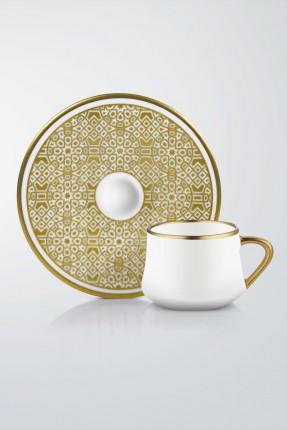 طقم قهوة 6 اشخاص - زخرفة عثمانية