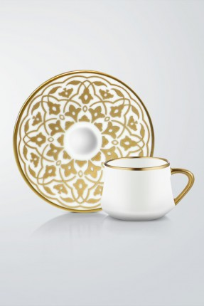 طقم قهوة 6 اشخاص - زخرفة ذهبية