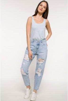 بنطال نسائي جينز ممزق سبور