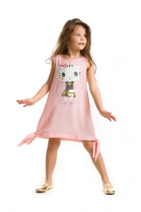 فستان بناتي حفر مطبوع قطة