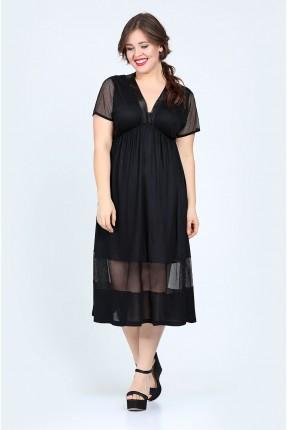 فستان رسمي قصير نصف الكم