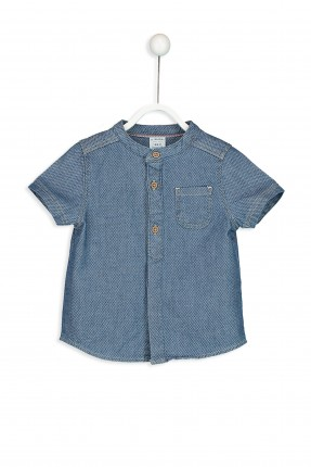 قميص بيبي ولادي بجيب جانبي