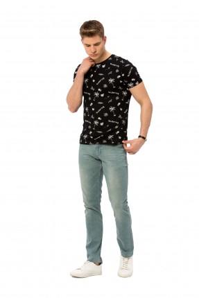 بنطال رجالي جينز سادة سبور