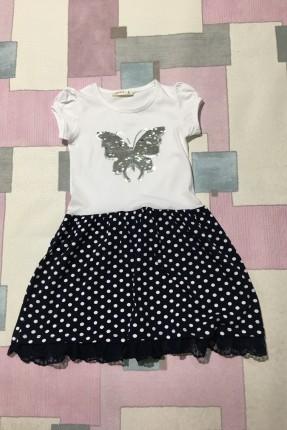 فستان اطفال بناتي مزين بشك