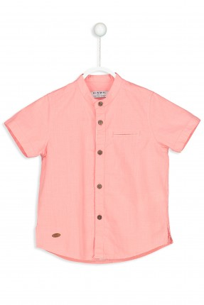 قميص ولادي بجيب جانبي سبور - زهري