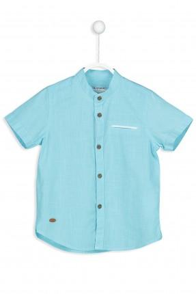 قميص ولادي بجيب جانبي سبور - ازرق