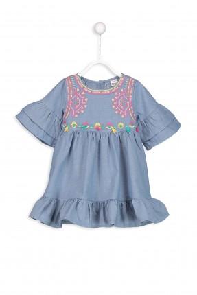 فستان بيبي بناتي مطرز من الاعلى