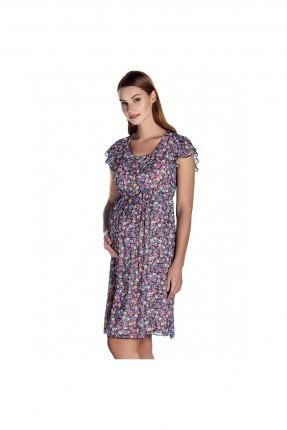 فستان حمل مزهر شيفون