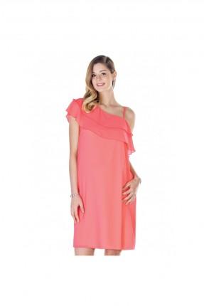 فستان حمل قصير كتف واحد