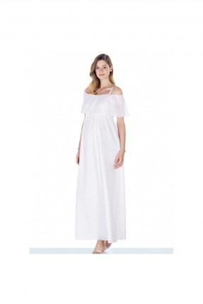 فستان حمل طويل منقط