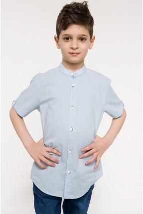 قميص اطفال ولادي نصف كم - ازرق