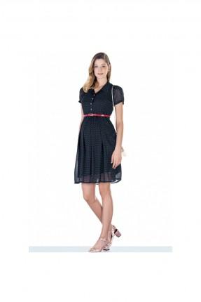 فستان حمل  شيفون منقط