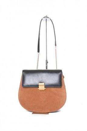 حقيبة يد نسائية جلد بحزام وغطاء سبور شيك