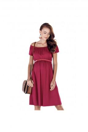 فستان حمل مفتوح الاكتاف - احمر