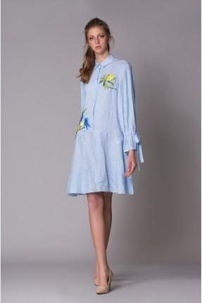 فستان سبور قصير مطرز من الجونب