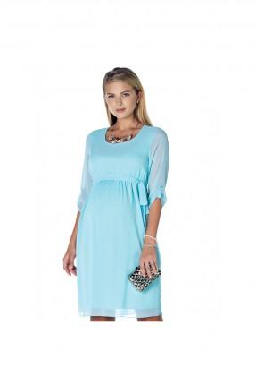 فستان حمل شيفون - ازرق
