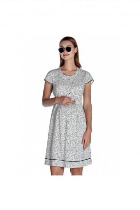 فستان حمل منقط مع ازرار