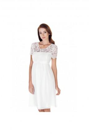 فستان حمل رسمي اكمام دانتيل