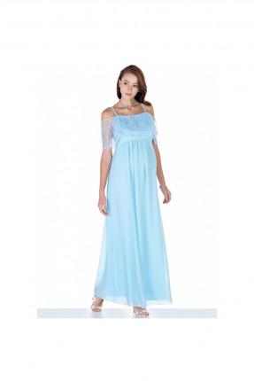 فستان حمل رسمي مطرز من الاعلى