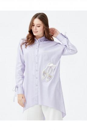 قميص نسائي مزين من الجانب لولو سبور