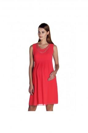 فستان حمل بقلادة - احمر
